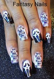 nail art designs scream ghost nail design creepy nails