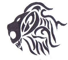original tribal lion tattoo by tribiany on deviantart