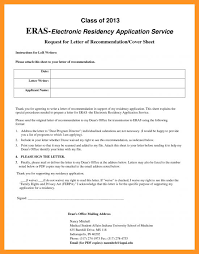 eras cover letter eras electronic residency application service