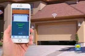 android garage door opener open sesame hnaos01 smartphone door opener remote small