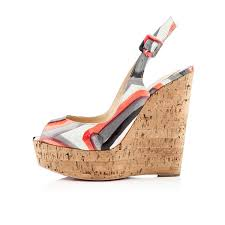 christian louboutin une plume 140mm wedges multicolor christian