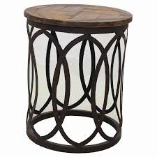 round industrial side table industrial round parquet side table urban beach lifestyle