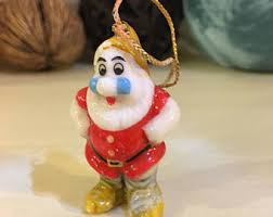 vintage snow white ornament etsy