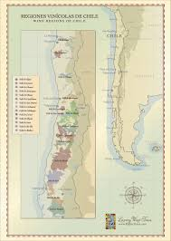 Map Of France Wine Regions by Chilean Wine Regions Map Incl Aconcagua Maipo Valleys