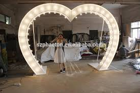 wedding arches with lights metal illuminated wedding hearts shaped wedding arches lights
