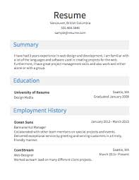Simple Job Resume Template by Valuable Resume Outline Examples 4 Free Resume Samples Writing