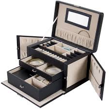 best choice products leather jewelry box and jewelry organizer
