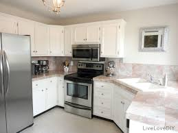 White Laminate Kitchen Cabinets Dashing Kitchen Countertop Ideas With White Wooden Cabinets And