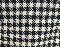 Black And White Check Upholstery Fabric Navy Check Fabric Etsy