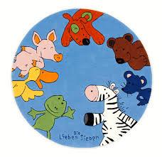 teppich kinderzimmer rund die lieben sieben kinder teppich rund blau öko tex zertifiziert