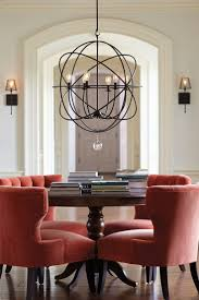 Dining Room Chandeliers Transitional Dining Room More Transitional 5 Light Chandelier In Brushed