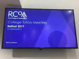 college tutors meeting 2017 the royal college of anaesthetists