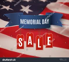 American Flag Price Big Memorial Day Sale Background Template Stock Vector 411197683