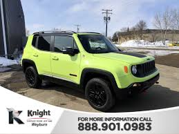 new jeep renegade green new 2018 jeep renegade trailhawk sport utility in weyburn 18129