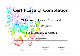 certificate of completion free template word 100 word template certificate of completion certificates