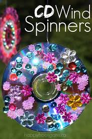 vibrant gorgeous cd wind spinners made from cds