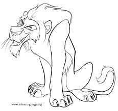 lion king scar coloring