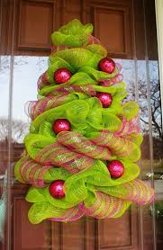 tree deco mesh wreath personalized decorations