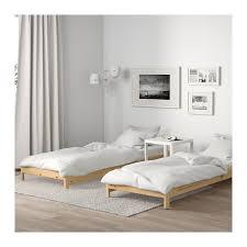 Bedroom Ikea Utåker Stackable Bed With 2 Mattresses Pine Malfors Medium Firm