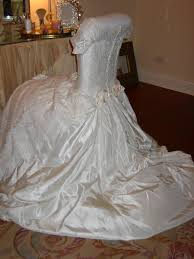 Used Wedding Chair Covers Wedding Dress Chair Cover Romancing The Home Table Cloths