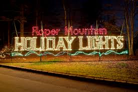 santa land here lighted sign photo video gallery roper mountain holiday lights