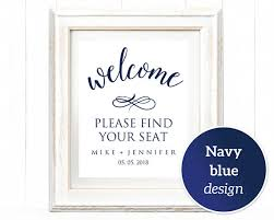 wedding signs template 8x10 welcome find your seat sign template wedding sign