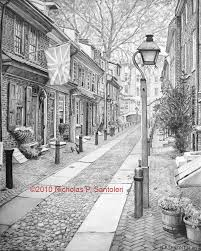Elfreth S Alley by Elfreths Alley Nicholas Santoleri Realism Artist