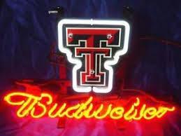 texas tech neon light budweiser bud light texas tech red raiders basketball neon sign 14
