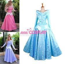 Princess Aurora Halloween Costume Sleeping Beauty Blue Dress Light Blue Princess Sleeping