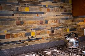 Stone Mosaic Tile Kitchen Backsplash by Kitchen Fancy Bliss Glass And Stone Backsplash Photo Of On