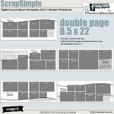scrapsimple digital layout album templates 8 5x11 modern