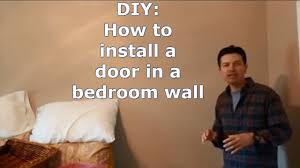 How To Frame A Door Opening Install A Door In An Existing Wall Youtube