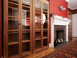 Bookshelves Glass Doors by Image Of Tall Black Bookshelf Furniture With Glass Door And