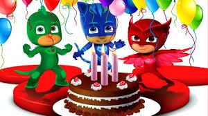 pj masks birthday cake surprise catboy owlette gekko masha