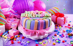 wallpaper cake happy candles cake birthday sweet decoration