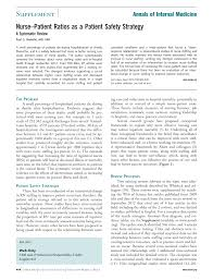 Responsibilities Of A Neonatal Nurse Nurse U2013patient Ratios As A Patient Safety Strategya Systematic