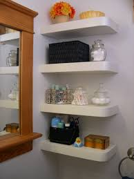 Small Bathroom Wall Shelves Small Bathroom Spaces With Floating Corner Wall Shelf And Wall