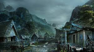 dark village wallpaper viking village final hd 3840x2160 by ashokconcept on deviantart