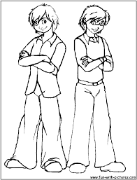 zack and cody coloring pages