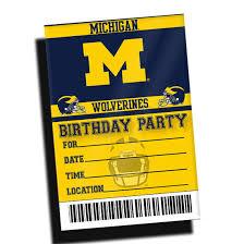team spirit store university of michigan football birthday party