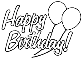 happy birthday coloring pages to print template to print