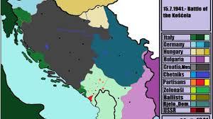 Yugoslavia Map Civil War In Yugoslavia 1941 1945 Part 1 Youtube