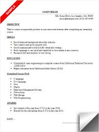 sample resume for internship 19 uxhandy com