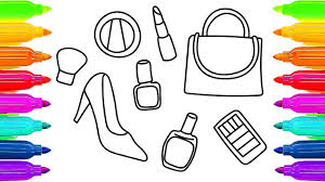 how to draw cosmetics and accessories for girls learning