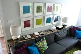 console table behind sofa against wall young house love what to put on a console table behind a couch