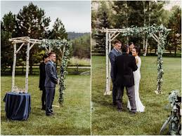 Wedding In The Backyard Intimate Mountain Cabin Wedding In Florissant Colorado