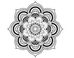 mandala oriental flower coloring coloringcrew