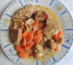 cuisine blanquette de veau recette minceur blanquette de veau aux chignons