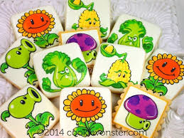Plants Vs Zombies Cake Decorations Shroom Plants Vs Zombies Cookies Google Search Cookies