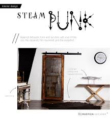 interior design steampunk rustica hardware